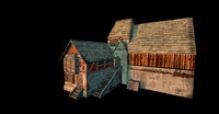 cottage engine udk 3d model