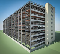 multistorey parking 3d model
