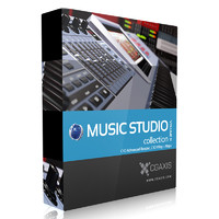 CGAxis Models Volume 31 Music Studio C4D