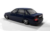 3d model of lada priora