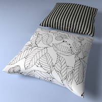 ikea pillow 3d obj