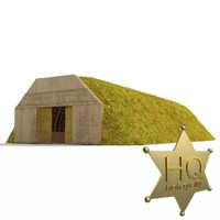 3ds max military underground hangar