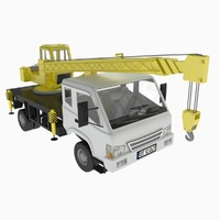 3d t mini truck crane model