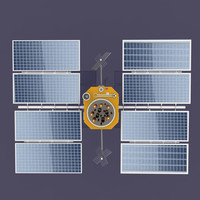 3d gps satellite model