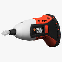 3d model of gyro screwdriver black decker