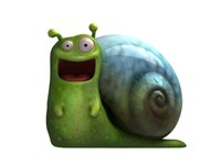 happy snail 3d max
