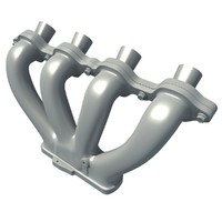 3d model exhaust manifolds