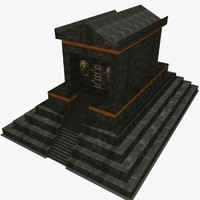 3d model ancient pyramid