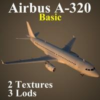 airbus basic 3d model