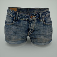 3d woman jeans hotpants