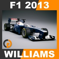 3d model formula 1 2013 williams