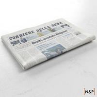 newspaper corriere della 3d model