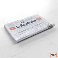 newspaper la repubblica 3d max