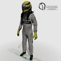 3d model formula nico rosberg