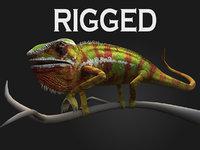 Chameleon rigged
