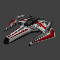 3ds max spaceship fighter