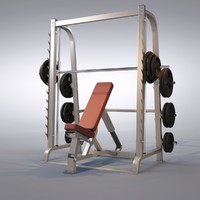 3d model bench press machine