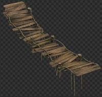 wooden bridge 3d max