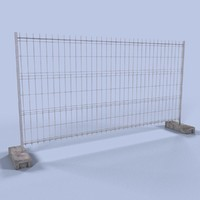 construction fence 3d max
