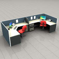 3d obj cubicles office