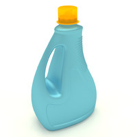 plastic detergent bottle 3ds