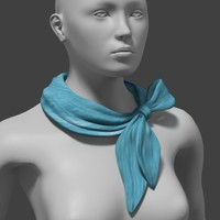 scarf fashion 3d model