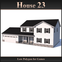 Low Polygon House 23