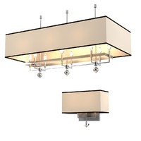 Hudson Valley Ceiling lamp chandlier 5648 & wall 5642 lamp Set