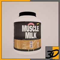 muscle milk 3d model