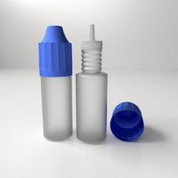 3ds max e-liquid bottles