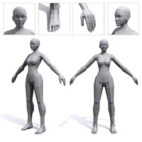 3d female base mesh human model