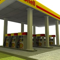 3ds max shell gas station