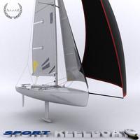 3d keelboat boat sport