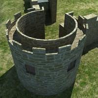 castle 2 3d max