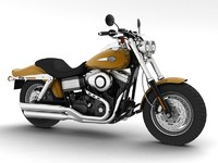3d model harley-davidson fxdf fat bob