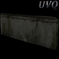 free damaged wall 3d model