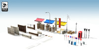 3d model city road