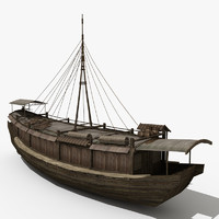 3d model of chinese ship