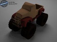 3d model monster truck toy
