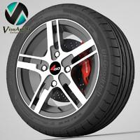 3d model wheel 4go pdw583