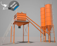 silos hopper cement 3d 3ds