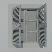 3d french window model