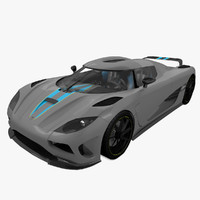 3d model koenigsegg agera sports car