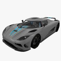 3d model koenigsegg agera sports car