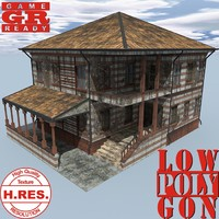 3d model weathered house games