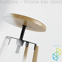 3d max bar stool vitone