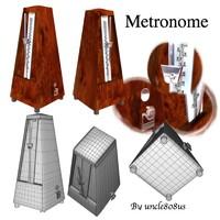 metronome poser 3d obj