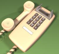 wall phone 3d