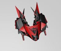 alien spaceship 3d model