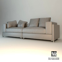 3d minotti alison sofa model